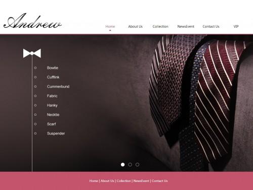 网站制作案例:Andrew Hans Apparel Limited-奇迪科技(深圳)有限公司