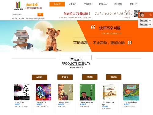 网站制作案例:声动未来-奇迪科技(深圳)有限公司