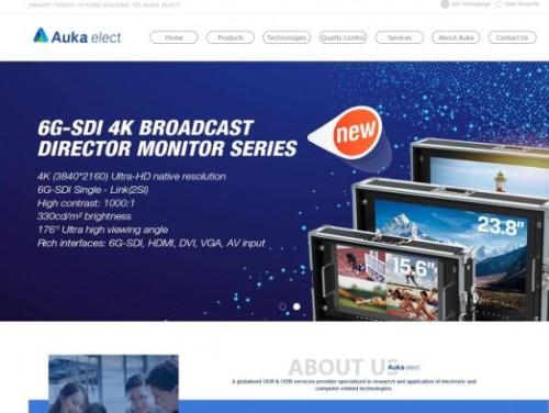 网站制作案例:Auka-elect-奇迪科技(深圳)有限公司