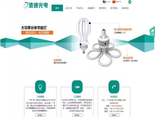 网站制作案例:广州市波迪光电新技术有限公司-奇迪科技(深圳)有限公司