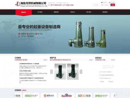 网站制作案例:浙江海盐丹顶机械有限公司-奇迪科技(深圳)有限公司