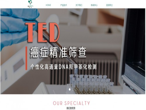 网站制作案例:上海易毕恩基因科技有限公司-奇迪科技(深圳)有限公司