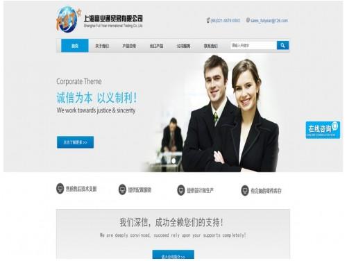 网站制作案例:上海富业通贸易有限公司-奇迪科技(深圳)有限公司