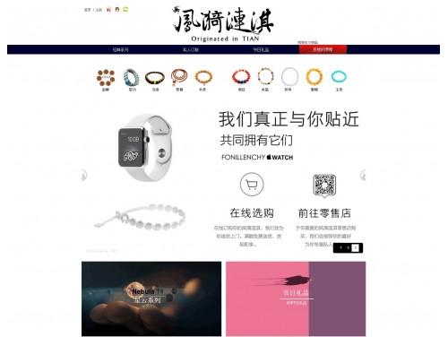 网站制作案例:凤漪涟淇的世界-奇迪科技(深圳)有限公司