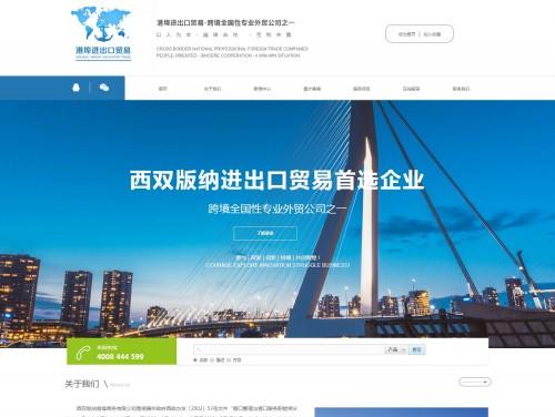 网站制作案例:西双版纳港埠商务有限公司-奇迪科技(深圳)有限公司