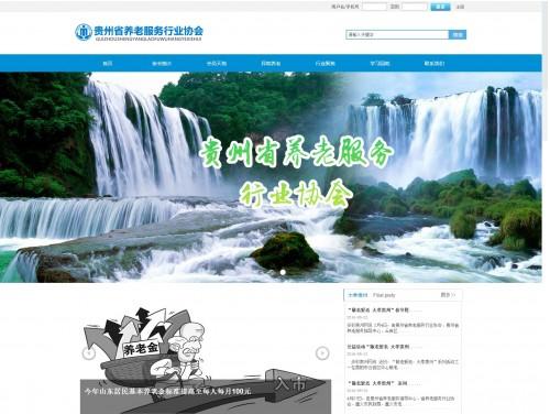 网站制作案例:贵州省养老服务行业协会-奇迪科技(深圳)有限公司
