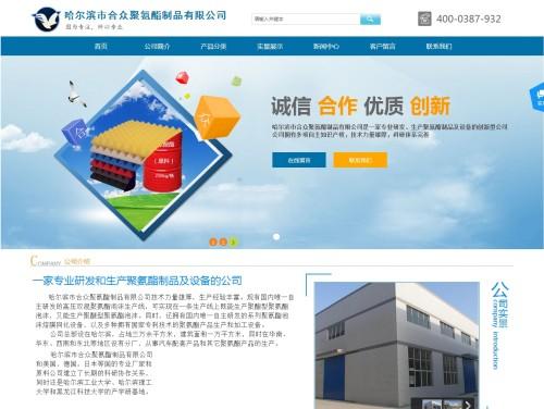 网站制作案例:合众聚氨酯-奇迪科技(深圳)有限公司