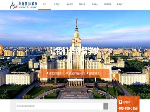 网站制作案例:海莫国际教育-奇迪科技(深圳)有限公司