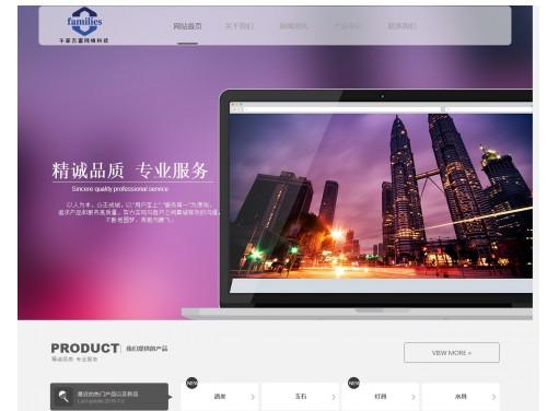 网站制作案例:湖南千家万富网络科技有限公司-奇迪科技(深圳)有限公司