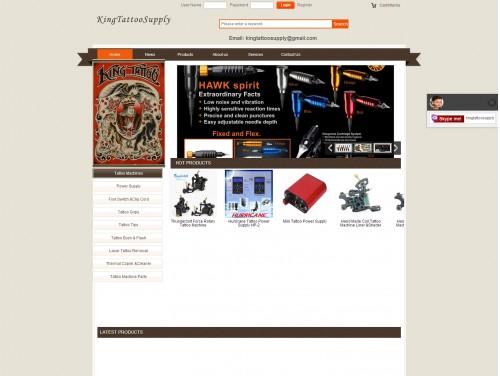 网站制作案例:kingtattoosupply-奇迪科技(深圳)有限公司