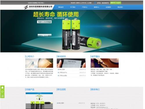 网站制作案例:深圳市蓝炳隆科技有限公司-奇迪科技(深圳)有限公司