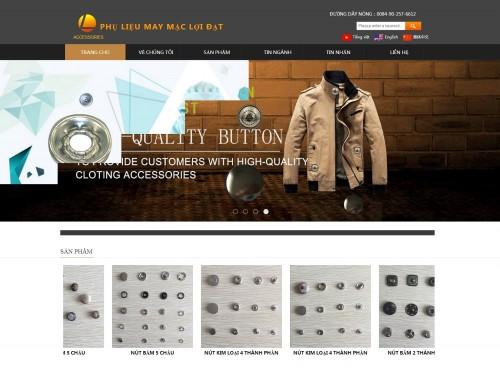 网站制作案例:CÔNG TY TNHH PHỤ LIỆU MAY MẶC LỢI ĐẠT-奇迪科技(深圳)有限公司