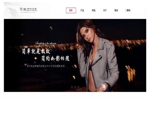 网站制作案例:极简艺术生活-奇迪科技(深圳)有限公司