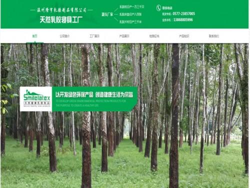 网站制作案例:温州隆亨乳胶制品有限公司-奇迪科技(深圳)有限公司