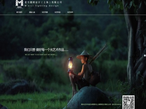 网站制作案例:上海照明设-奇迪科技(深圳)有限公司