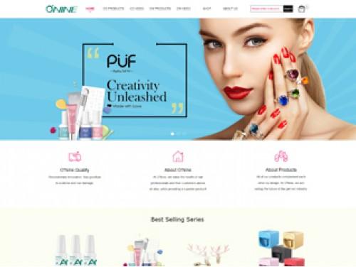 网站制作案例:美容用品商城-奇迪科技(深圳)有限公司