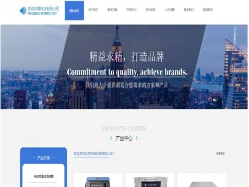 网站制作案例:北京妙微科技有限公司-奇迪科技(深圳)有限公司