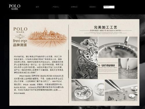 网站制作案例:POLOMARK 钟表-奇迪科技(深圳)有限公司