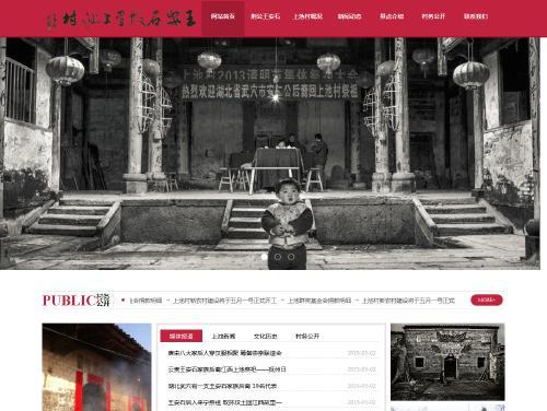 网站制作案例:王安石故里上池村-奇迪科技(深圳)有限公司