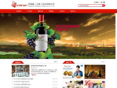 网站制作案例:圣箔源(上海)实业有限公司-奇迪科技(深圳)有限公司