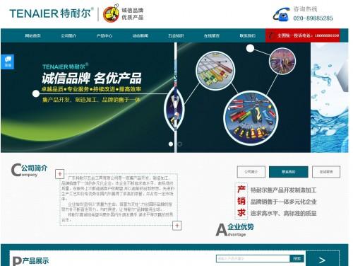 网站制作案例:广州特耐尔五金有限公司-奇迪科技(深圳)有限公司