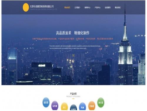 网站制作案例:天津市尧夏控制系统有限公司-奇迪科技(深圳)有限公司