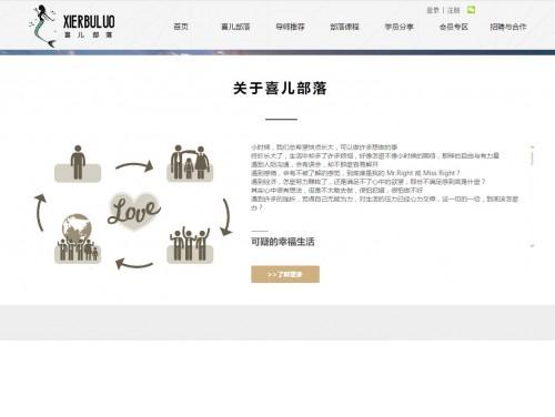 网站制作案例:喜儿部落-奇迪科技(深圳)有限公司