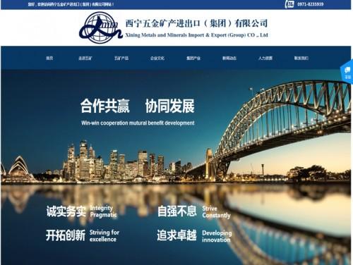 网站制作案例:西宁五金矿产进出口有限公司-奇迪科技(深圳)有限公司