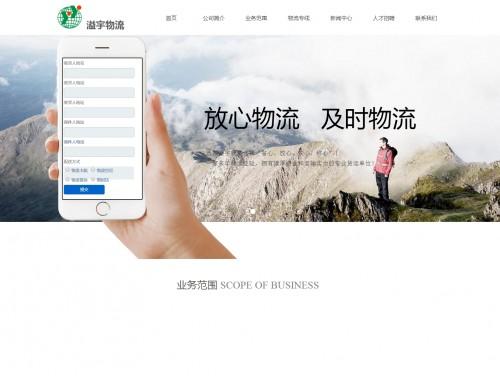 网站制作案例:上海溢宇物流有限公司-奇迪科技(深圳)有限公司